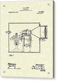 Edison Kinetoscope 1911 II Patent Art  Acrylic Print by Prior Art Design