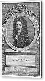 Edmund Waller (1606-1687) Acrylic Print by Granger