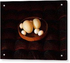 Eggs Acrylic Print by YoMamaBird Rhonda