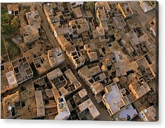 Egyptian Village From The Air Acrylic Print by Joe & Clair Carnegie / Libyan Soup