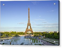 Eiffel Tower With Fontaines Acrylic Print by Melanie Viola