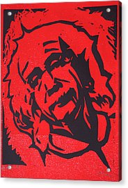Einstein 2 Acrylic Print by William Cauthern