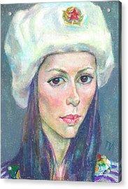 Ekaterina Kindzerskaya Acrylic Print by Leonid Petrushin