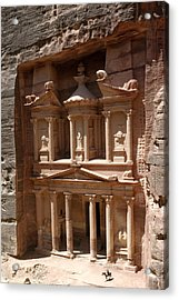 Elaborate Sandstone Temple Or Tomb Acrylic Print by Luis Marden