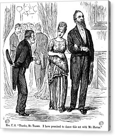 Election Cartoon, 1877 Acrylic Print by Granger