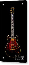 Electric Guitar . Painterly Acrylic Print by Wingsdomain Art and Photography