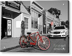 Electric Vehicle . Peddle Power . Infinite Miles To The Gallon . 7d12729 Acrylic Print by Wingsdomain Art and Photography