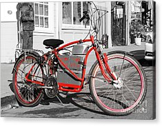 Electric Vehicle . Peddle Power . Infinite Miles To The Gallon . 7d12730 Acrylic Print by Wingsdomain Art and Photography
