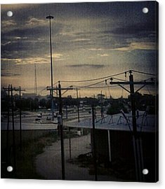 #electricalsky Acrylic Print by Kel Hill