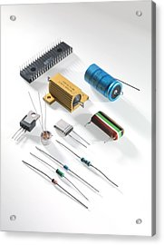 Electronic Components Acrylic Print by Tek Image