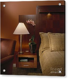 Elegant Bedroom Acrylic Print by Robert Pisano