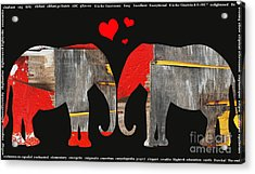 Elephant Love Kids Licensing Art Acrylic Print by Anahi DeCanio