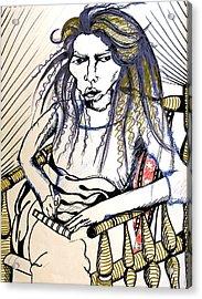 Elham Acrylic Print by Nina Mirhabibi