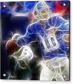 Eli Manning Ny Giants Acrylic Print by Paul Ward