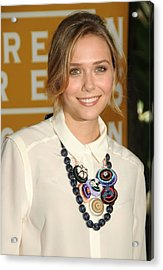 Elizabeth Olsen At Arrivals Acrylic Print by Everett