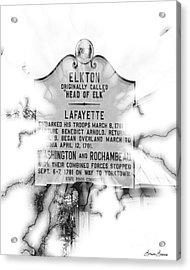 Elkton Head Of Elk  Acrylic Print by Lorraine Louwerse