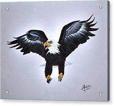 Elliott The Eagle Acrylic Print by Adele Moscaritolo
