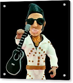 Elvis Presley Acrylic Print by Louisa Houchen