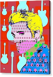 Elvis Acrylic Print by Ricky Sencion