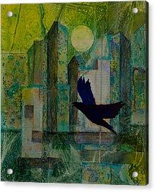Emerald City Acrylic Print by David Raderstorf