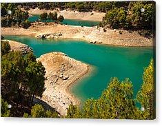 Emerald Lake I. El Chorro. Spain Acrylic Print by Jenny Rainbow