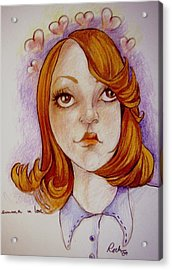 Emma In Love Acrylic Print by Jackie Rock