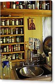 Emmaus House Kitchen Acrylic Print by Sarah Loft