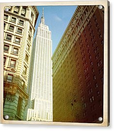 Empire State Building Acrylic Print by Ben Peterson