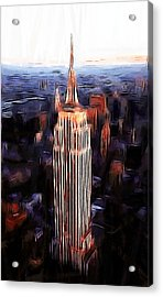 Empire State Building Acrylic Print by Steve K