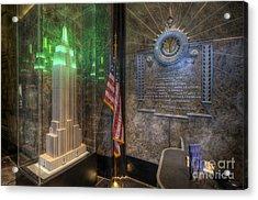 Empire State Model Acrylic Print by Yhun Suarez