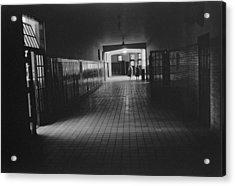Empty Hallway At Central High School Acrylic Print by Everett