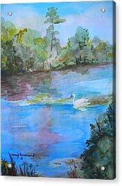 Enchanted Lake Acrylic Print by Nancy Brennand