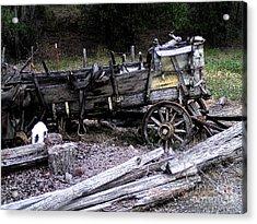 End Of The Trail Oregon Conestoga Wagon  Acrylic Print by Glenna McRae