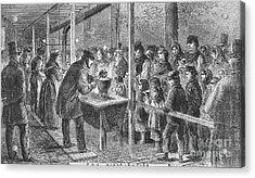England: Soup Kitchen, 1862 Acrylic Print by Granger