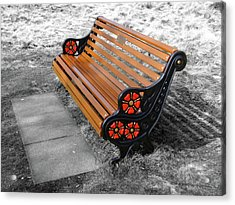 Benches Acrylic Print featuring the photograph English Bench by Roberto Alamino