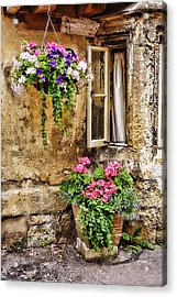 English Cottage Acrylic Print by Wendy White