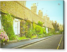English Cottages Acrylic Print by Tom Gowanlock