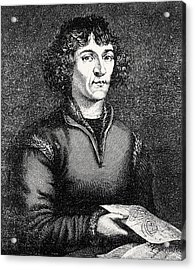 Engraving Of Nicolas Copernicus, Polish Astronomer Acrylic Print by Dr Jeremy Burgess