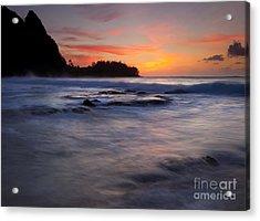 Engulfed By The Sea Acrylic Print by Mike  Dawson
