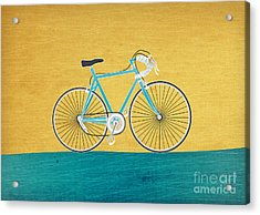 Enjoy The Ride Acrylic Print by Linda Tieu