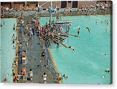 Enjoying The Pool At Jones Beach State Acrylic Print by B. Anthony Stewart