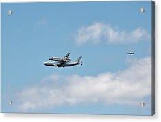 Enterprise Flyby Acrylic Print by Rita Tortorelli