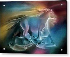 Equus Caballuscomp 1984 Acrylic Print by Glenn Bautista