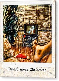 Ernest Saves Christmas Acrylic Print by Lou  Novick