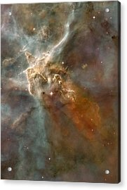 Eta Carinae Nebula, Hst Image Acrylic Print by Nasaesan. Smith (university Of California, Berkeley)hubble Heritage Team (stsclaura)