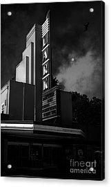 Evening At The Lark - Larkspur California - 5d18484 - Black And White Acrylic Print by Wingsdomain Art and Photography
