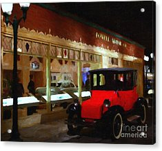 Evening At The Vintage American Car Dealership - 7d17460 Acrylic Print by Wingsdomain Art and Photography