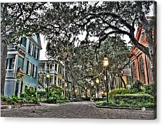 Evening Campus Stroll Acrylic Print by Andrew Crispi