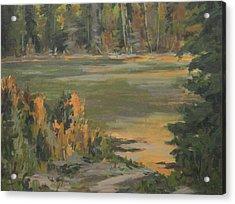 Evening Marsh Acrylic Print by Mike Stocker