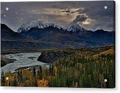Evening Matanuska Valley  Acrylic Print by Sam Amato